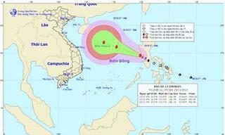 Thông tin mới nhất về cơn bão số 13 trên biển Đông
