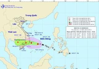 Bão số 14 di chuyển nhanh vào bờ biển từ Khánh Hòa - Bình Thuận, nhiều nơi mưa rất to