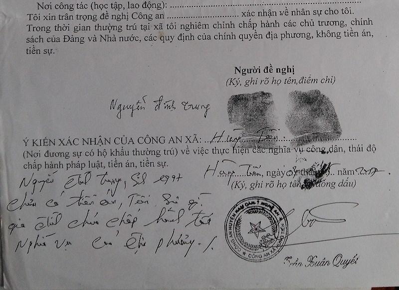 Bút phê hồ sơ xuất khẩu lao động ở Nghệ An