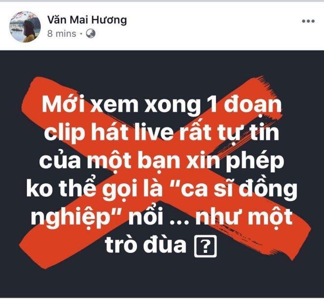Văn Mai Hương đá xéo giọng hát live của Chi Pu là một sự sỉ nhục?