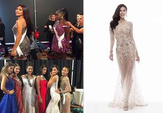 Á hậu Nguyễn Thị Loan tỏa sáng trong trang phục dạ hội tại Hoa hậu Hoàn vũ 2017