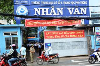 Cháy trường ở TP.HCM, học sinh buộc phải sơ tán