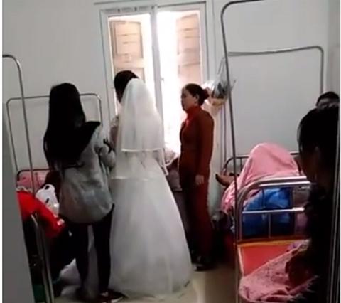 Sinh con được 2 ngày, sản phụ hóa cô dâu xinh đẹp về làm lễ cưới