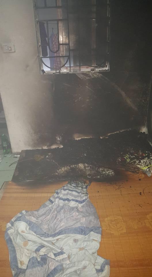 Chàng sinh viên luộc đũa cháy, sạc điện thoại cháy phòng trọ3