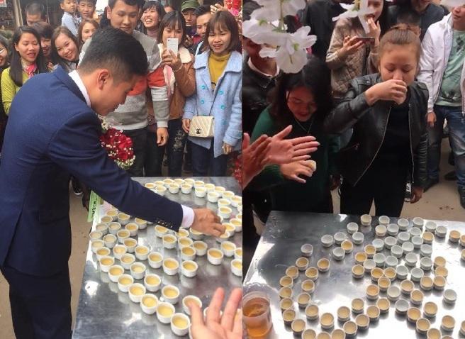 Đám cưới ở Lạng Sơn, rước được dâu, nhà trai uống 100 chén rượu
