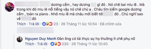 Duy Mạnh phản ứng choáng trước việc Dương Cầm chê Miu Lê không đủ trình làm ca sĩ