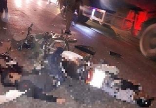 Hà Nội: Xe máy đấu đầu kinh hoàng ở Chương Mỹ, 2 người tử vong tại chỗ