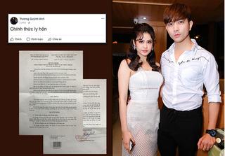 Rò rỉ đơn ly hôn chính thức từ tháng 5 của Tim và Trương Quỳnh Anh