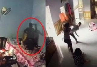 Clip con ốm sốt 40 độ, chồng vẫn đánh vợ dã man khiến dư luận phẫn nộ