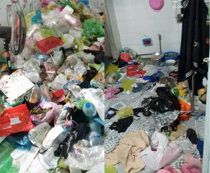 Căn phòng trọ bẩn thỉu như bãi rác của cô gái Cần Thơ