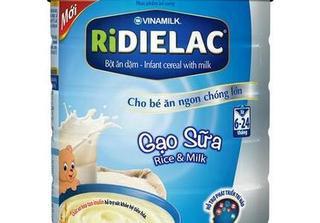 Bột ăn dặm Ridielac Alpha Sữa - Ngũ Cốc có gì đặc biệt?