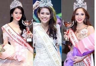 10 ngày, 7 người đẹp Việt đăng quang Hoa hậu