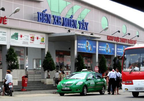 Giá vé xe Tết Dương lịch 2018 tại bến xe miền Tây