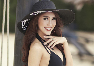 """""""Hoa hậu The Face"""" Tường Linh khoe eo thon dáng đẹp với bikini"""