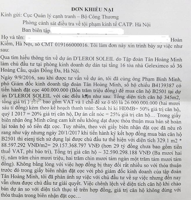 Tân Hoàng Minh nói gì khi bị khách hàng tố bán nhà sai cam kết