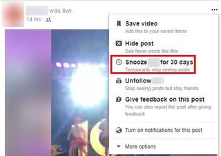 Facebook ra mắt tính năng Snooze giúp bạn làm lơ người yêu cũ dễ dàng