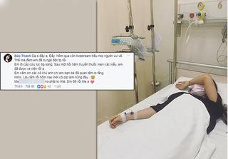 Nữ diễn viên Bảo Thanh bất ngờ nhập viện vì ngộ độc thực phẩm