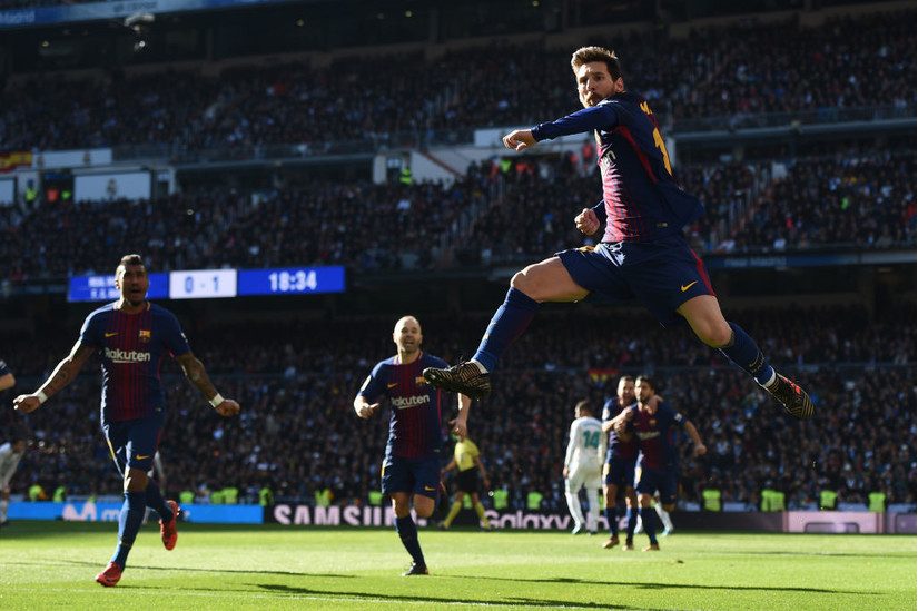 Tiền đạo Messi lập kỷ lục ấn tượng ở trận EL Clasico