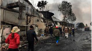 Tìm thấy 1 thi thể sau vụ cháy nhà máy sản xuất bánh kẹo ở Thanh Hóa