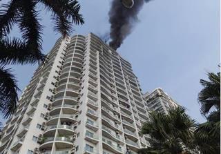 Cháy lớn tại chung cư Golden Westlake, nhiều cư dân phải sơ tán