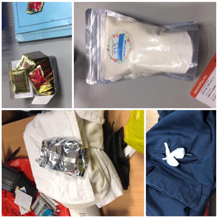 Giấu ma túy vào trà sâm, túi sữa bột hòng qua mặt an ninh sân bay