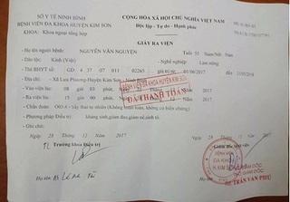 Ninh Bình: Người đàn ông ra viện được bác sĩ chẩn đoán bị sảy thai