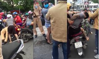 Vi phạm giao thông, nam thanh niên rút dạo tấn công CSGT