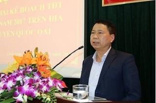 Công an vào cuộc tìm chủ tịch huyện Quốc Oai