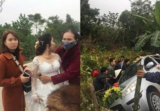 Nghệ An: Xe hoa lật nhào, cô dâu chú rể thoát nạn trong gang tấc