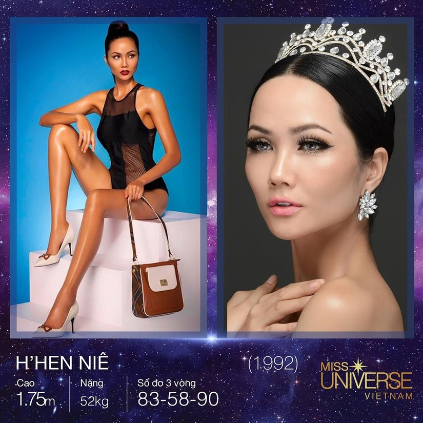 Top 3 Hoa hậu Hoàn vũ Việt Nam 2017 c