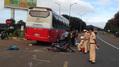 Phó hiệu trường trường tiểu học tử vong sau cú đâm vào hông xe khách