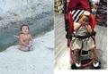 Bé gái không mặc quần áo giữa trời đông đã được đón đi chữa bệnh