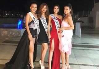 Những hình ảnh đầu tiên của Tường Linh tại cuộc thi Hoa hậu Liên lục địa 2017