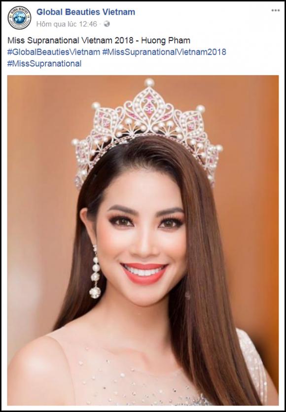 Thực hư tin đồn Phạm Hương tham dự Hoa hậu siêu quốc gia 2018?