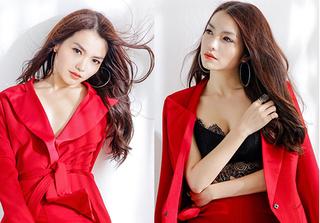 Hồng Kim Hạnh tung bộ ảnh đỏ rực gợi cảm