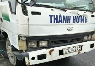 Thái Bình: Truy tìm tài xế xe tải đi vào đường cấm, gây tai nạn rồi bỏ trốn