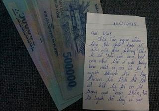 Tên trộm trả tiền cho khổ chủ kèm theo bức tâm thư sau 3 năm