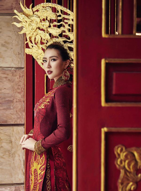 Hé lộ trang phục truyền thống của Tường Linh tại Hoa hậu Liên lục địa 6