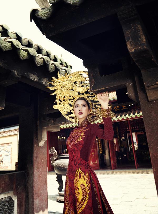 Hé lộ trang phục truyền thống của Tường Linh tại Hoa hậu Liên lục địa 3