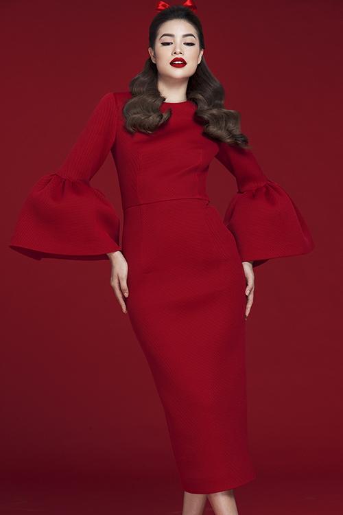 Hoa hậu Phạm Hương rực rỡ kiêu sa trong loạt đầm đỏ 2