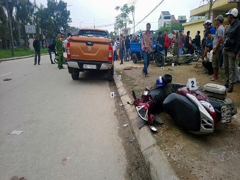 Khởi tố tài xế xe bán tải tông CSGT và 5 người bị thương
