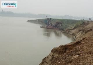 Phù Ninh, Phú Thọ: Công ty Thái Sơn lợi dụng xây trạm bơm để tận thu cát?