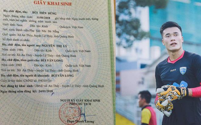 Một ông bố đã làm giấy khai sinh tên Bùi Tiến Dũng cho con trai2
