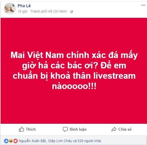 Ca sĩ Pha Lê bị fan chửi bới vì mạnh miệng tuyên bố nude ủng hộ U23