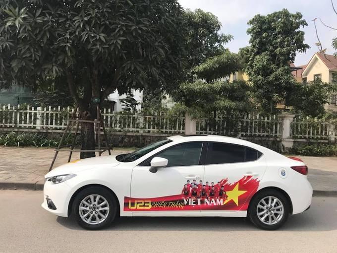 Dàn xe ô tô trang trí ủng hộ U23 Việt Nam vô địch 6