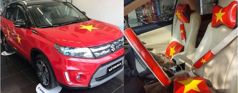 Dàn xe ô tô trang trí ủng hộ U23 Việt Nam vô địch 12