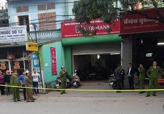 Chi nhánh ngân hàng Agribank ở Bắc Giang bị cướp
