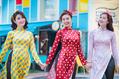 Xu hướng thời trang Tết 2018 với áo dài phong cách cô ba Sài Gòn
