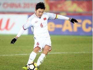 Tiền vệ Lương Xuân Trường thi đấu tại V.League 2018