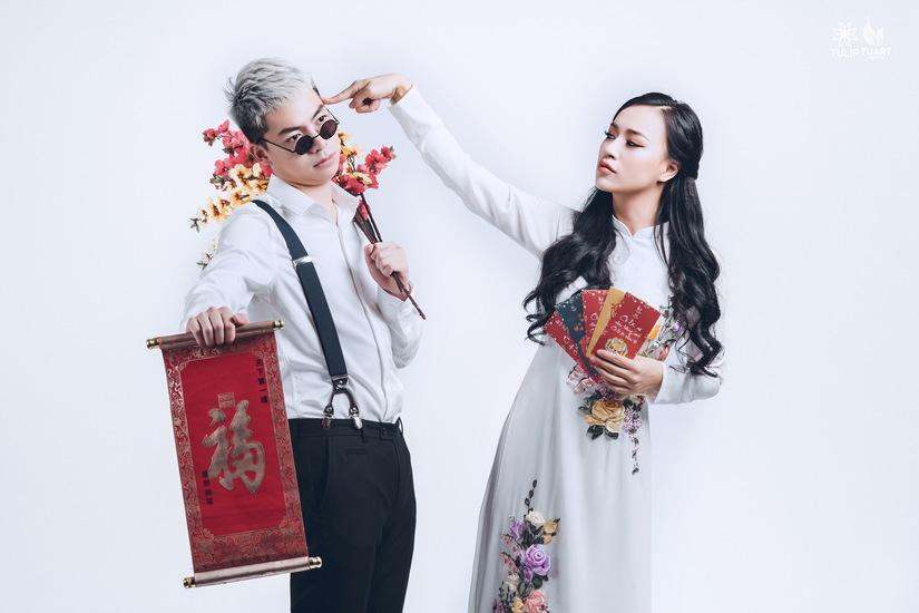 Bộ ảnh đón xuân đẹp mê ly của gia đình nữ DJ nóng bỏng10